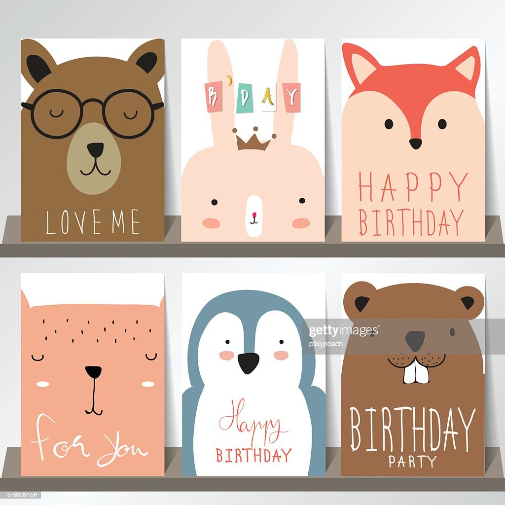 Colorful collection for banners,Flyers,Placards with fox,rabbit