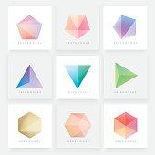 Colorful collection set of soft mesh facet crystal gem designs