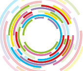 Colorful concentric circle
