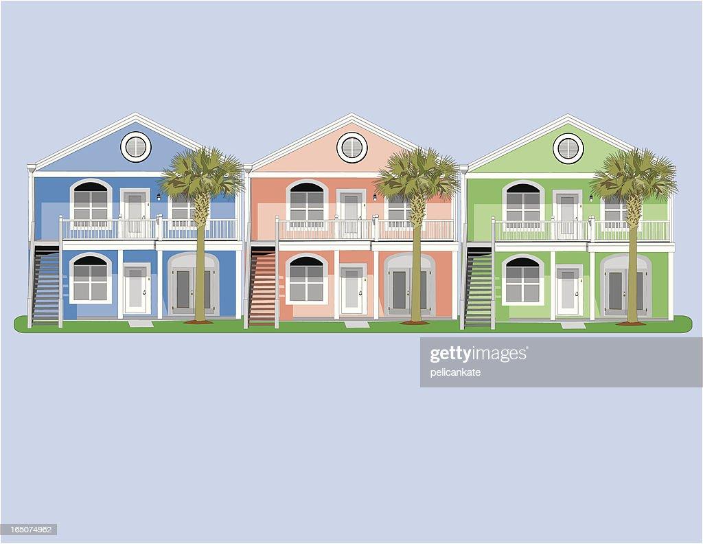 Colorful Condos : stock illustration