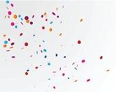 Colorful confetti background