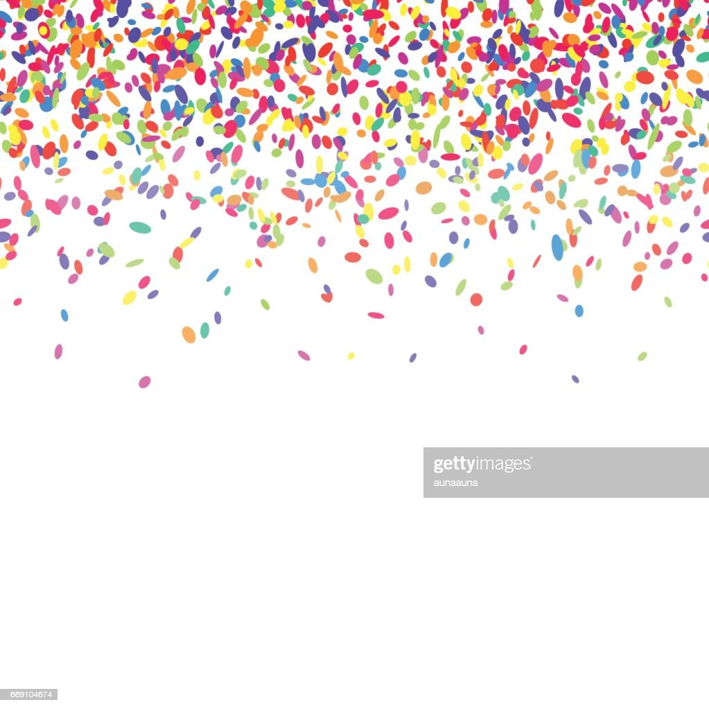 Colorful confetti background.