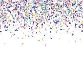 Colorful confetti background.