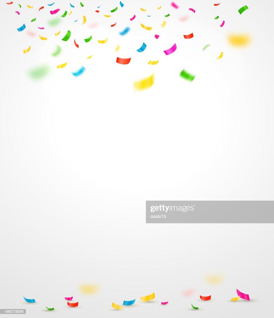 Colorful confetti. Vector illustration