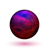 Colorful crystal ball