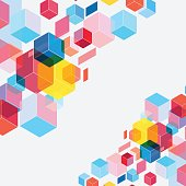 colorful cube ornament pattern background