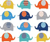 Colorful Cute Elephant Collections