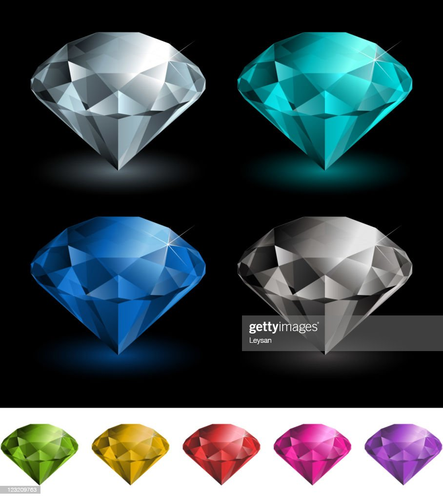 Colorful diamonds set