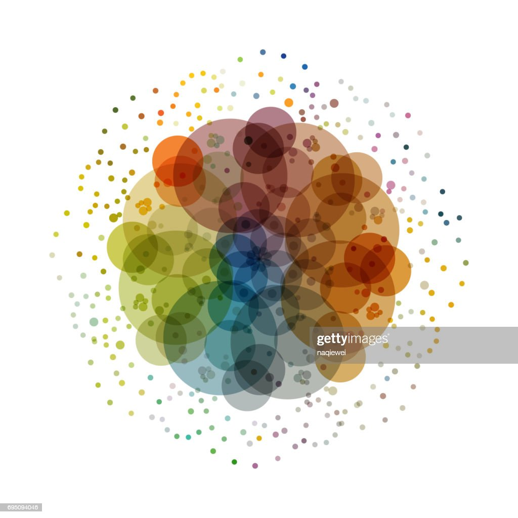 Colorful dots vector circle pattern