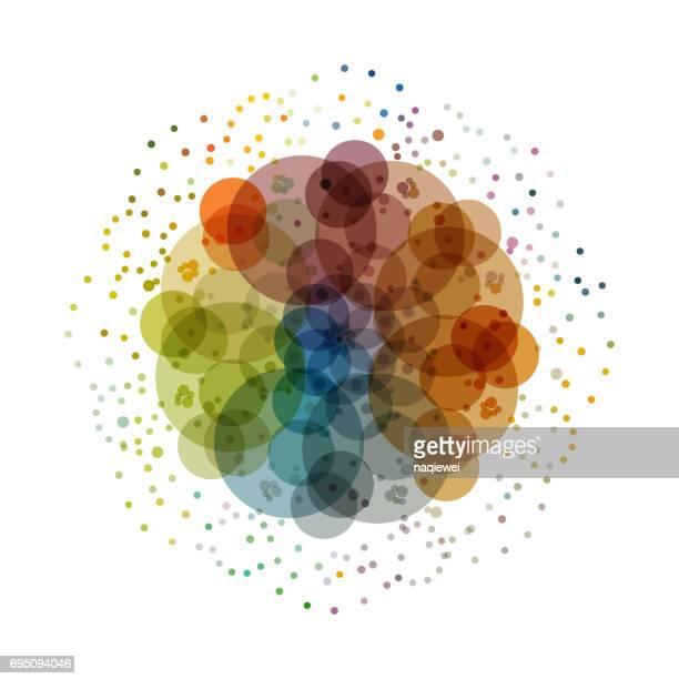 Motif de points colorés vecteur circle