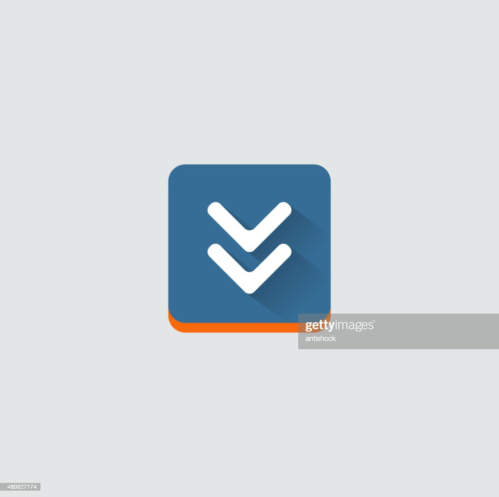 Colorful download web button. Modern flat design : Vector Art