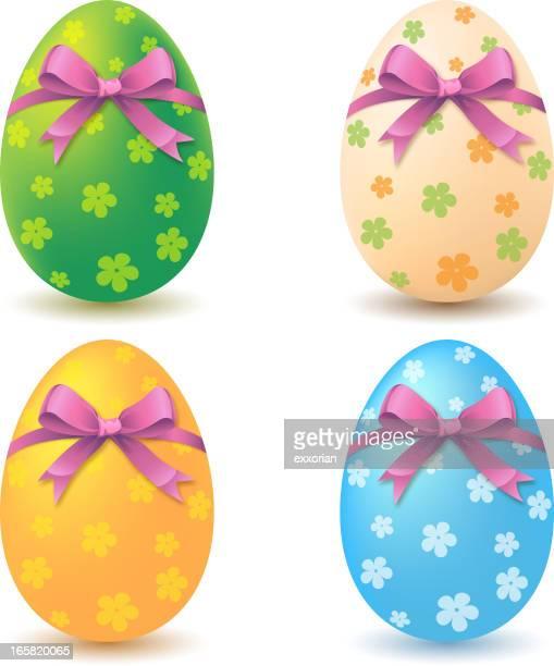 bunte ostern eier-symbol - osterei stock-grafiken, -clipart, -cartoons und -symbole