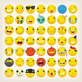 Colorful emoticons for any ocasion