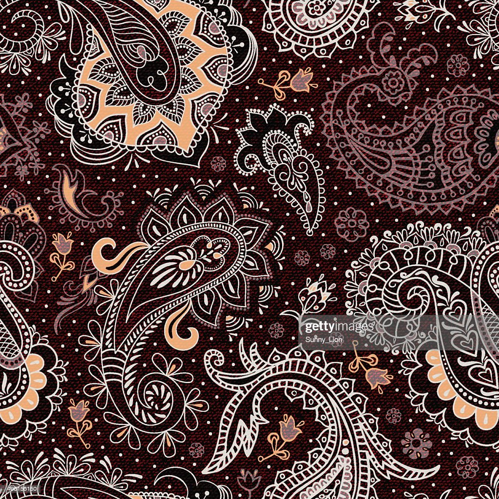 Colorful ethnic seamless pattern