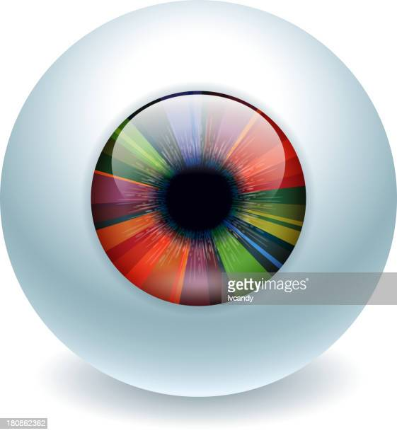 Colorful eyeball