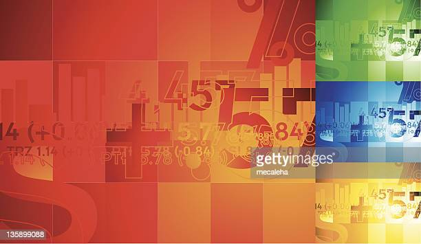 a colorful financial background - financial figures stock illustrations