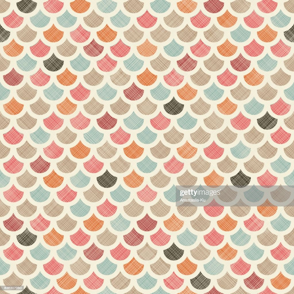 Colorful fish squama. Seamless abstract colorful pattern on texture background.