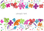 Colorful floral abstract background decorative flower