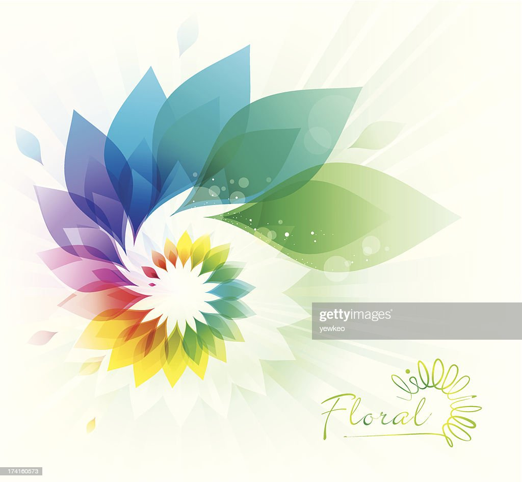 Colorful Floral Swirl