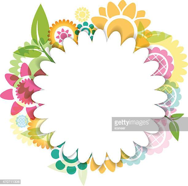 Colorful flower background with copyspace