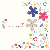 colorful flowery greeting card