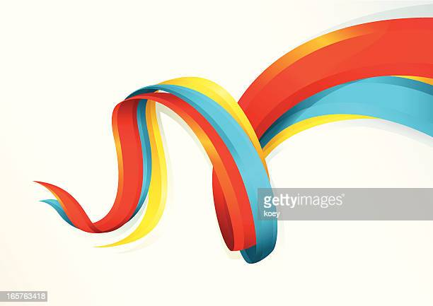 Colorful Flowing Ribbons