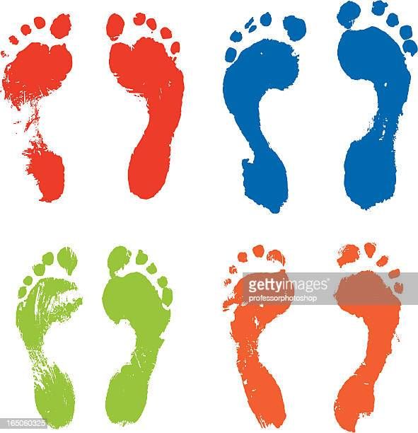 Colorful footprints