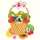 Colorful Fruits In The Basket