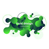 Colorful geometric background design. Fluid shapes composition with trendy gradients. Vector illustration