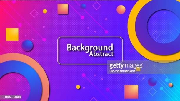 ilustraciones, imágenes clip art, dibujos animados e iconos de stock de fondo geométrico colorido. composición de formas fluidas - los cuatro elementos