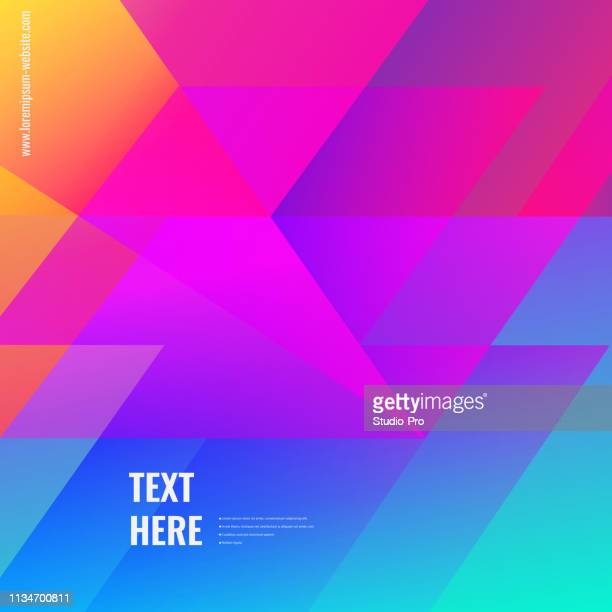 colorful geometric background - triangle shape stock illustrations