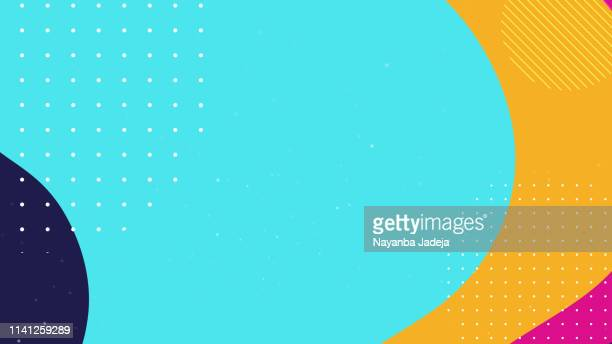 colorful geometric background - abstract backgrounds stock illustrations