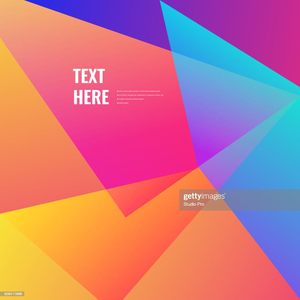 Colorful geometric background : stock illustration