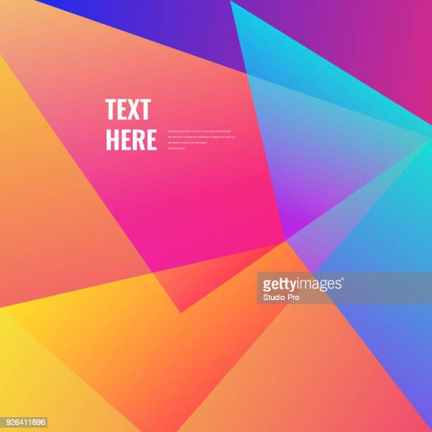 colorful geometric background - square stock illustrations