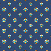 Colorful geometric vector seamless pattern