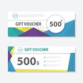 Colorful Gift voucher coupon template pattern