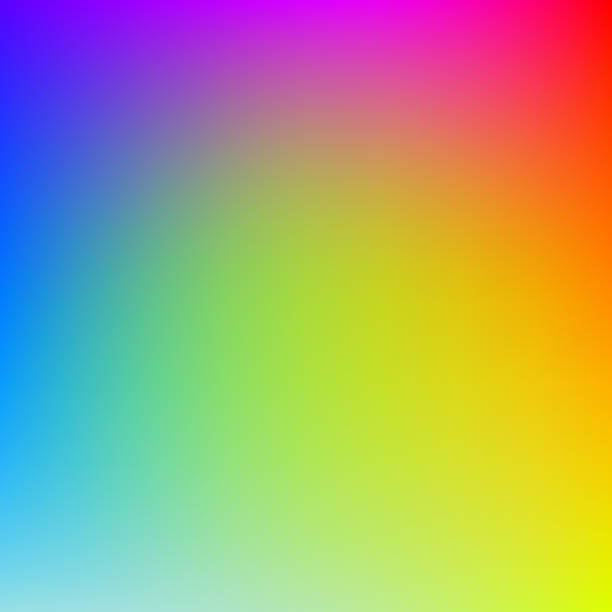 colorful gradient background in bright rainbow colors. abstract blurred image. - rainbow stock illustrations