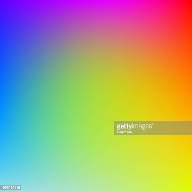 colorful gradient background in bright rainbow colors. abstract blurred image. - color gradient stock illustrations