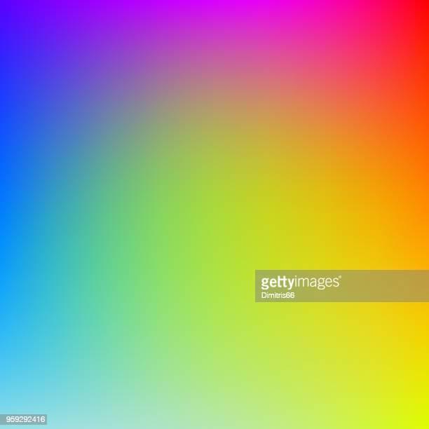 ilustrações, clipart, desenhos animados e ícones de fundo colorido gradiente em cores do arco-íris brilhante. imagem desfocada abstrata. - misturando