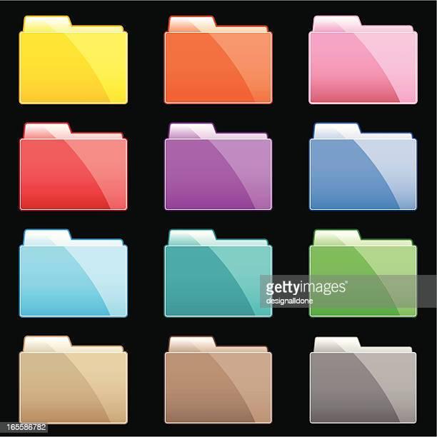 カラフルなグラジエントのフォルダ - リング式ファイル点のイラスト素材/クリップアート素材/マンガ素材/アイコン素材
