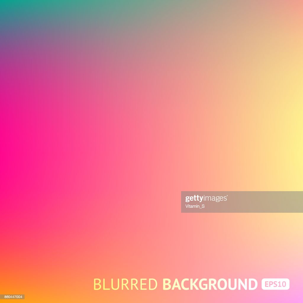 Colorful gradient mesh background in bright rainbow colors. Abstract blurred image