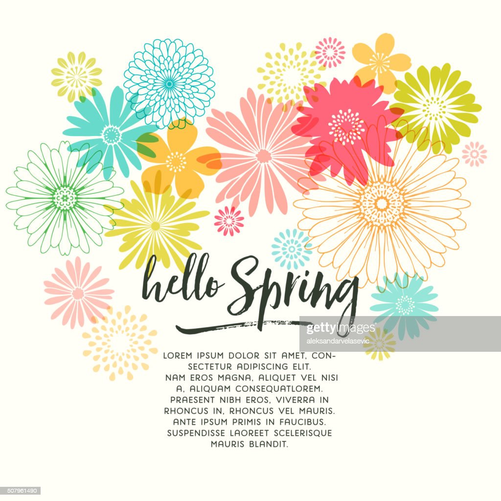 Colorful graphic spring flowers vector art getty images colorful graphic spring flowers vector art mightylinksfo Gallery