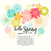 Colorful Graphic Spring Flowers