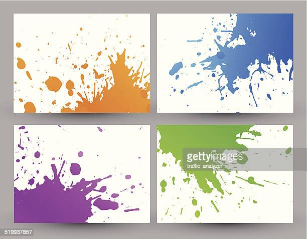 colorful grunge backgrounds - spill stock illustrations, clip art, cartoons, & icons