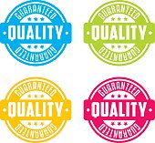 Colorful Guaranteed Quality Stamp Labels