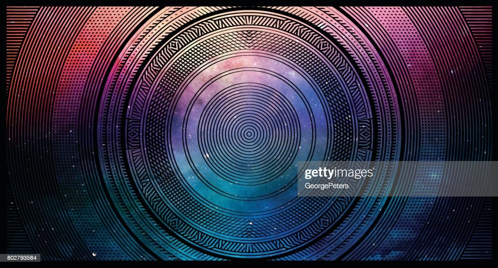 Colorful Half tone pattern background with space and stars : stock illustration