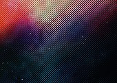 Colorful Half tone pattern background with space and stars