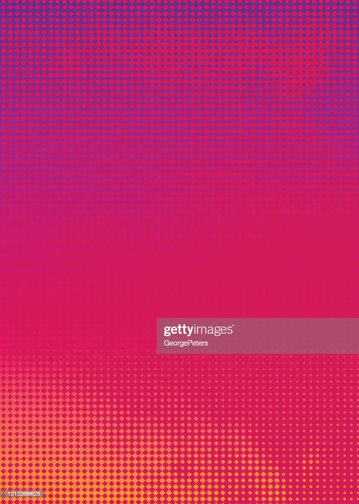 Colorful Halftone Pattern Abstract background suggesting heat : Illustrazione stock