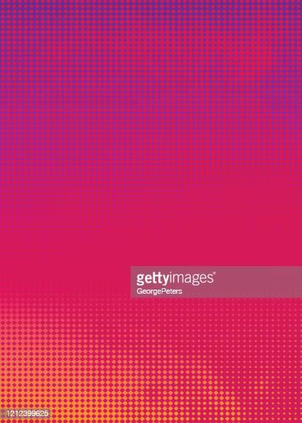 illustrazioni stock, clip art, cartoni animati e icone di tendenza di colorful halftone pattern abstract background suggesting heat - cambiare colore