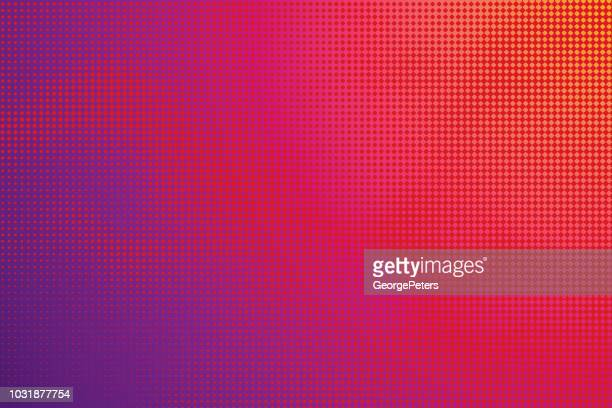 colorful halftone pattern abstract background - cloudscape stock illustrations, clip art, cartoons, & icons